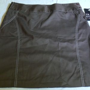 NWT Tracy Evans Brown Mini Skirt